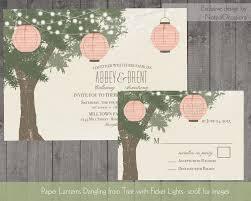 lantern wedding invitations paper lanterns wedding invitations tree with twinkle lights