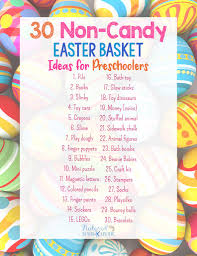 easter basket ideas for toddlers 30 non candy easter basket ideas for preschoolers
