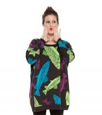 fish sweater would you wear this betsey johnson fish sweater thegloss