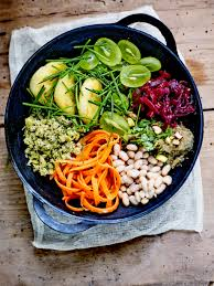 cuisiner les haricots blancs buddha bowl palets de polenta haricots blancs et purée d aubergine