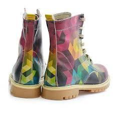 womens combat boots australia rainbow geometric combat boot boots pimpos australia