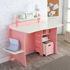 Kid Corner Desk Casual Furniture For Bedroom Decoration Using White Subway