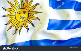 Flag Yellow Sun Uruguay Flag 3d Waving Flag Design Stock Illustration 631599995