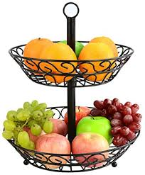 fruit basket surpahs 2 tier countertop fruit basket stand in home