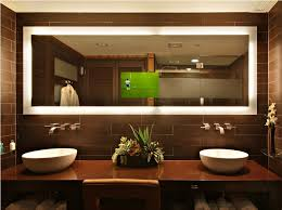 Large Mirrors For Bathrooms Bathroom Lighting Illuminated Bathroom Mirror Wall Lighted Large