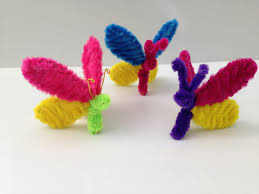 pipe cleaner butterfly diy tutorial 4 kids crafts モールアート