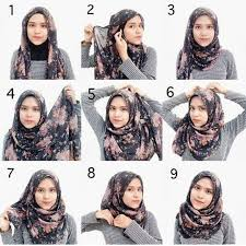 tutorial hijab turban untuk santai tutorial hijab segi empat simple hijab tutorial pinterest