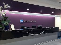Greeting space at canary whar american express global