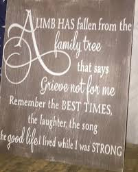 a limb has fallen from our family tree sign personalized
