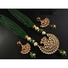 green color necklace set images Buy craftsvilla designer artificial green color mala necklace set jpg