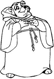 friar tuck kind hearted priest robin hood coloring