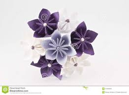 bouquet en papier bouquet de papier de mariage d u0027origami photo libre de droits