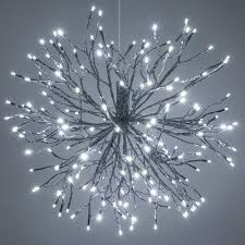 lighted branches lighted branches silver starburst cool white led gulf coast