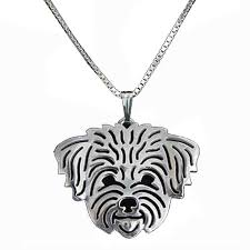 dog necklace pendant images Cute maltese dog pendant necklaces charm hollow women silver jpg