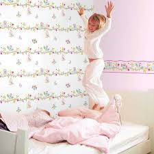 GIRLS GENERIC BEDROOM WALLPAPER BORDERS BUTTERFLY FLOWERS BIRDS - Wall borders for kids rooms