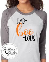 Halloween Shirt Designs by Fab Boo Lous Halloween Shirt Halloween Raglan Tee