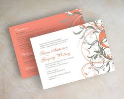 wedding invitation kits templates coral and gray wedding invitations plus wedding