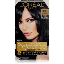 saphire black hair l oreal paris superior preference hair color black sapphire 2bl