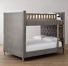 Chesterfield Tufted Velvet FullOverFull Bunk Bed - Upholstered bunk bed