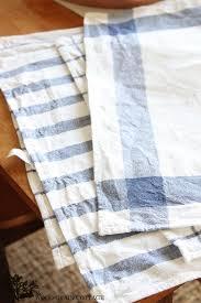 diy tea towel pillows grain cottage