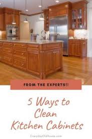 best thing to clean grease kitchen cabinets 5 ways to clean wooden kitchen cabinets from the