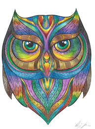 peaceful inspiration ideas colored owl pictures 25 best colorful