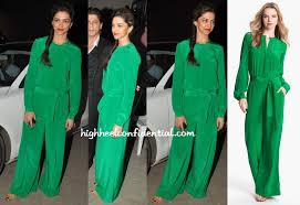 roy jumpsuit going green high heel confidential