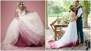 dip dye wedding dress it s a day for a ombre wedding mnn nature
