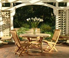 Teak Outdoor Dining Set Decor Stunning Outdoor Furniture With Gorgeous Natural Smith And