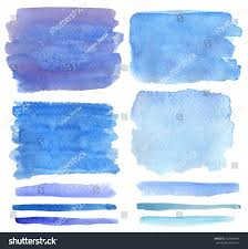 watercolor hand painting texturesvector isolated stainsdrops stock