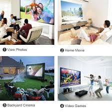 amazon com paick 3200 lumens led video projector multimedia home