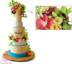 Tropical Themed Wedding Cakes - visual glossary of cake terms pink cake box