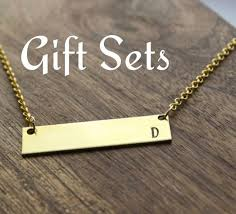 Personalized Bar Necklace Bridesmaids Gold Bar Necklace Initial Necklace Wedding Party Gift