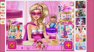 barbie u0027s makeup room barbie makeover game youtube
