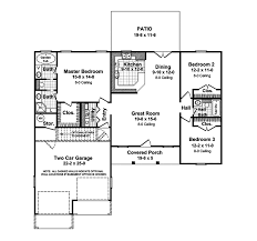 2 bedroom ranch floor plans stovall country ranch home plan 077d 0019 house plans and more