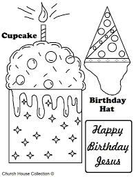 a free printable happy birthday jesus coloring page for kids in