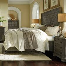Magnussen Harrison Bedroom Furniture by Cheswick Wood Panel Bed In Washed Linen Grey Humble Abode