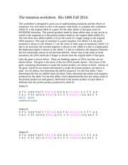 mutations ws key delahunty biology honors mutations
