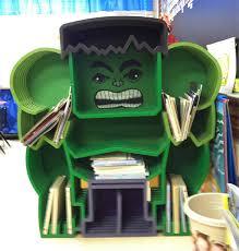 Batman Bookcase Marvel At This Incredible Hulk Bookcase Technabob
