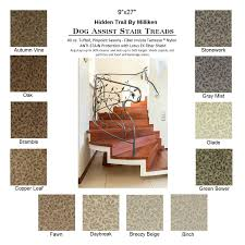 trail ii dog assist carpet stair treads