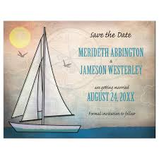 nautical save the date the date cards rustic sailboat nautical