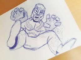 rey mysterio doodle by gordonholmes on deviantart