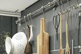 crochet cuisine inox barre pour ustensile de cuisine cuisine en acier inox merveilleux