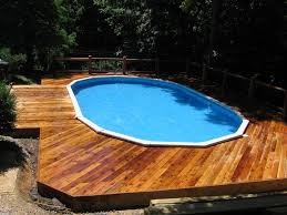 above ground pool deck cost u2014 home landscapings above ground