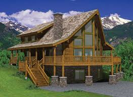 hillside cabin plans hillside log home plan by yellowstone log homes