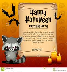 happy halloween clipart banner banner happy halloween and angry raccoon stock vector image