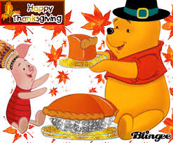 piglet pooh celebrate thanksgiving picture 76091618 blingee