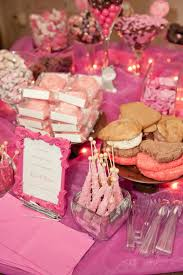 Salt Water Taffy Wedding Favor The Busy Broad Pink And Brown Candy Buffet