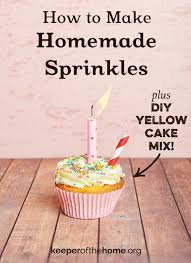 how to make colorful homemade sprinkles plus diy yellow cake mix