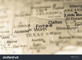 Texas On Map Of Usa by Closeup Fort Worth Texas On Political Stock Photo 488741377